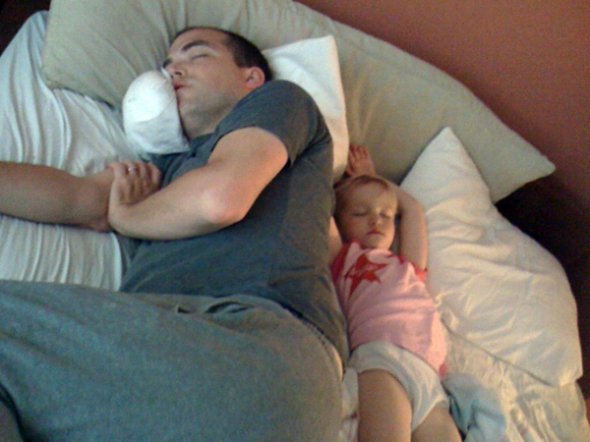 sleeping beauties, with visions of juggling unicyclers dancing in their heads.