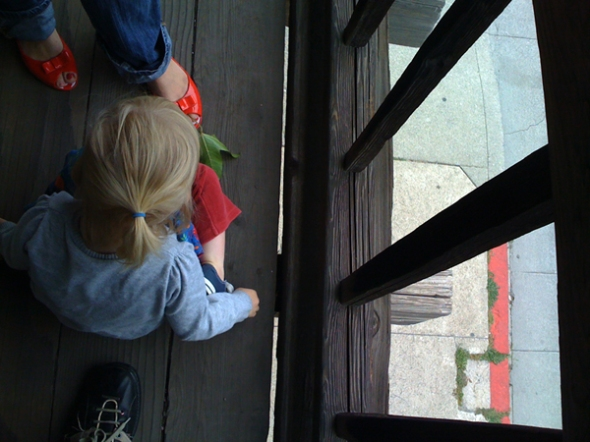 sometimes a leaf and red shoes are more interesting.