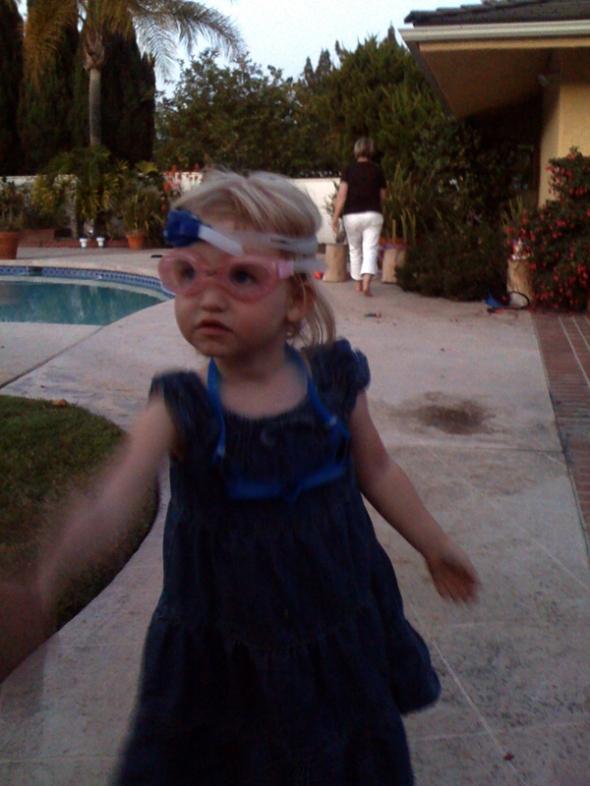 peer goggles.
